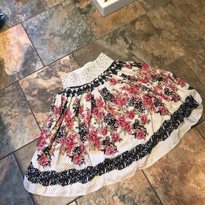 Flower Polkadot Flowey Skirt